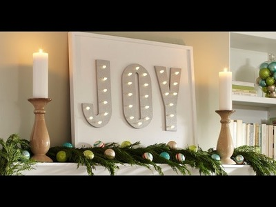 How to Make a Holiday Lighted Marquee - The Home Depot