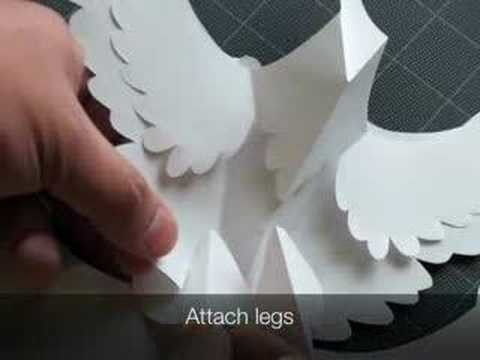 How to Make a Kirigami Dancing Crane Pop-up Card