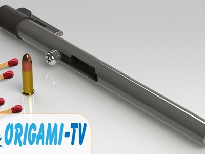 How to make a Pen Gun that shoots easy with matchsticks