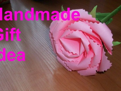 How to Make an Origami Rose. DIY Easy Paper Flowers. Handmade Craft Idea for Gifts