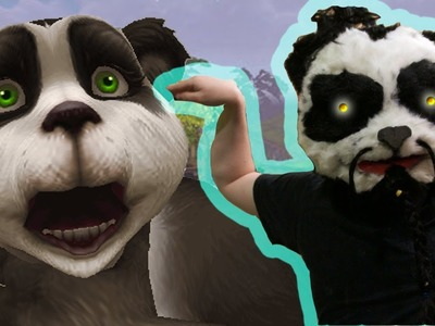 How to make PANDA MONK MASK