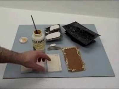 How to make rubber molds of rocks and castle walls