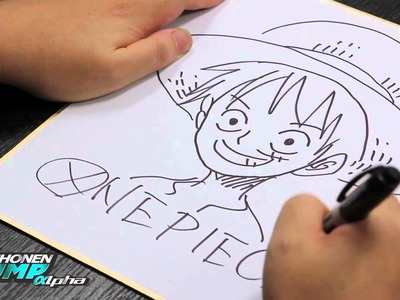 ONE PIECE.LUFFY: Eiichiro Oda OFFICIAL Creator Sketch Video