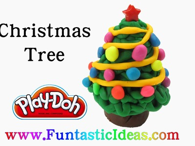 Play Doh Christmas Tree 3D.Holiday - How to with playdough by Funtastic Ideas