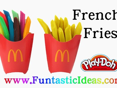 Play Doh Rainbow French Fries - How to with Playdough by Funtastic Ideas