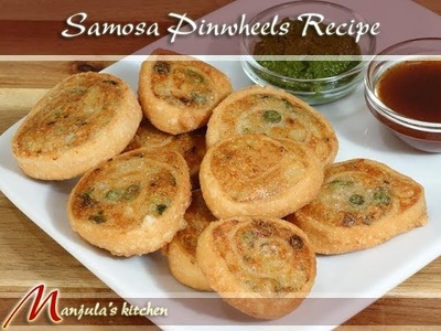 Samosa Pinwheels - Indian Gourmet Appetizer Recipe by Manjula