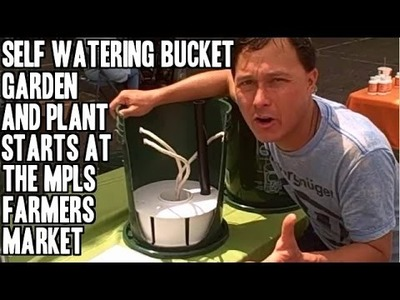 Self Watering Bucket Garden, Plant Starts &  More at the Minneapolis Farmers Market