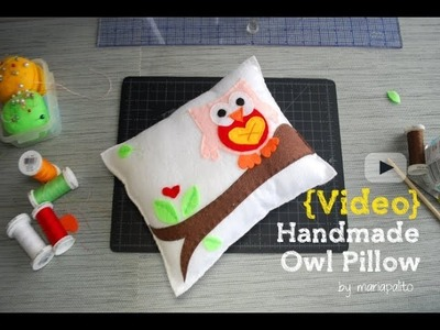 Sewing a Decorative owl Nursery Pillow -Timelapse