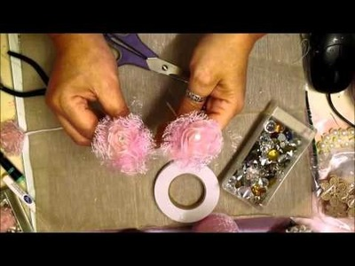 Shabby Flowers & Pearl Spray Tutorial - jennings644