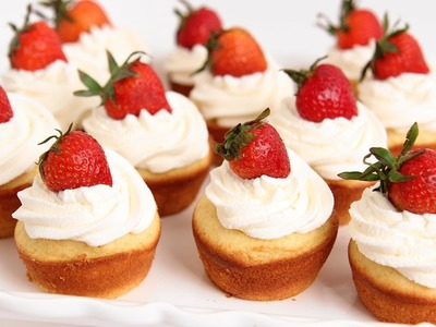 Strawberry Shortcake Cupcakes Recipe - Laura Vitale - Laura in the Kitchen Episode 753