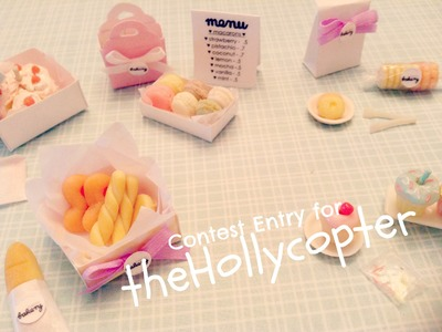"""♥ TheHollycopter Polymer Clay Contest Entry (""""The Happy Bakery"""")♥"""