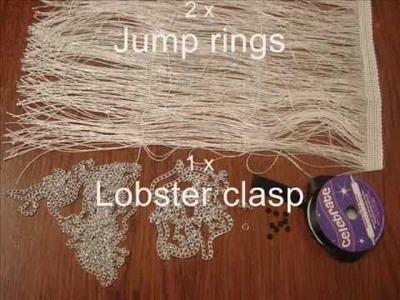 Tutorial: Fringe & Chains Tuxedo Necklace
