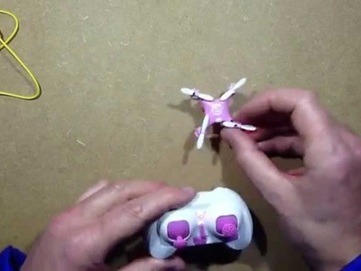 Using a CX10 quadcopter for the first time.