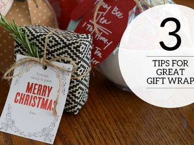 3 Tips for Creative Gift Wrap