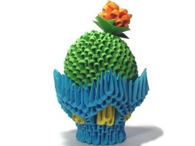 3D origami cactus tutorial