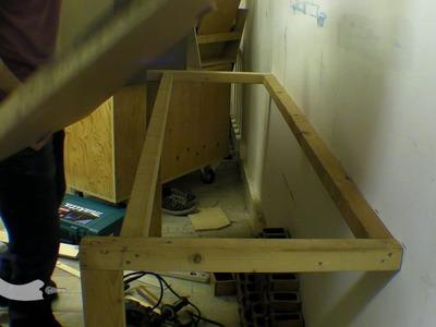 Build. Install Workbench. Table Fixed To Masonry Wall