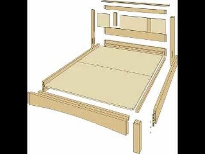 Carpentry Bed Plans - Detailed Woodworking Project Blueprints