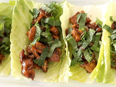 Chicken Lettuce Wraps Recipe || KIN EATS