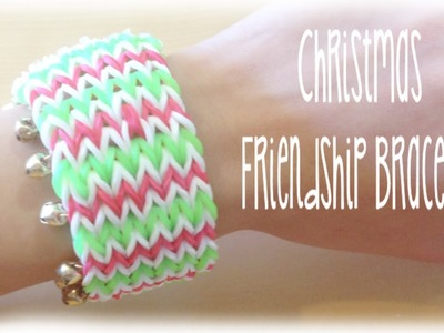 Christmas Rainbow Loom friendship bracelet Holiday tutorial