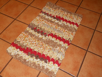 Crocheted Rag Rug Bumpy Country Road Part 2