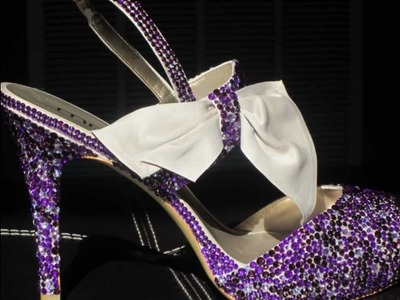 Custom Bedazzled Bridal Party Shoes: 2 of 4