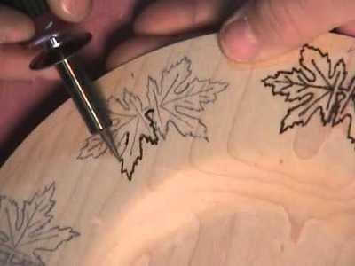 Debbie's Plate. A woodburning video.