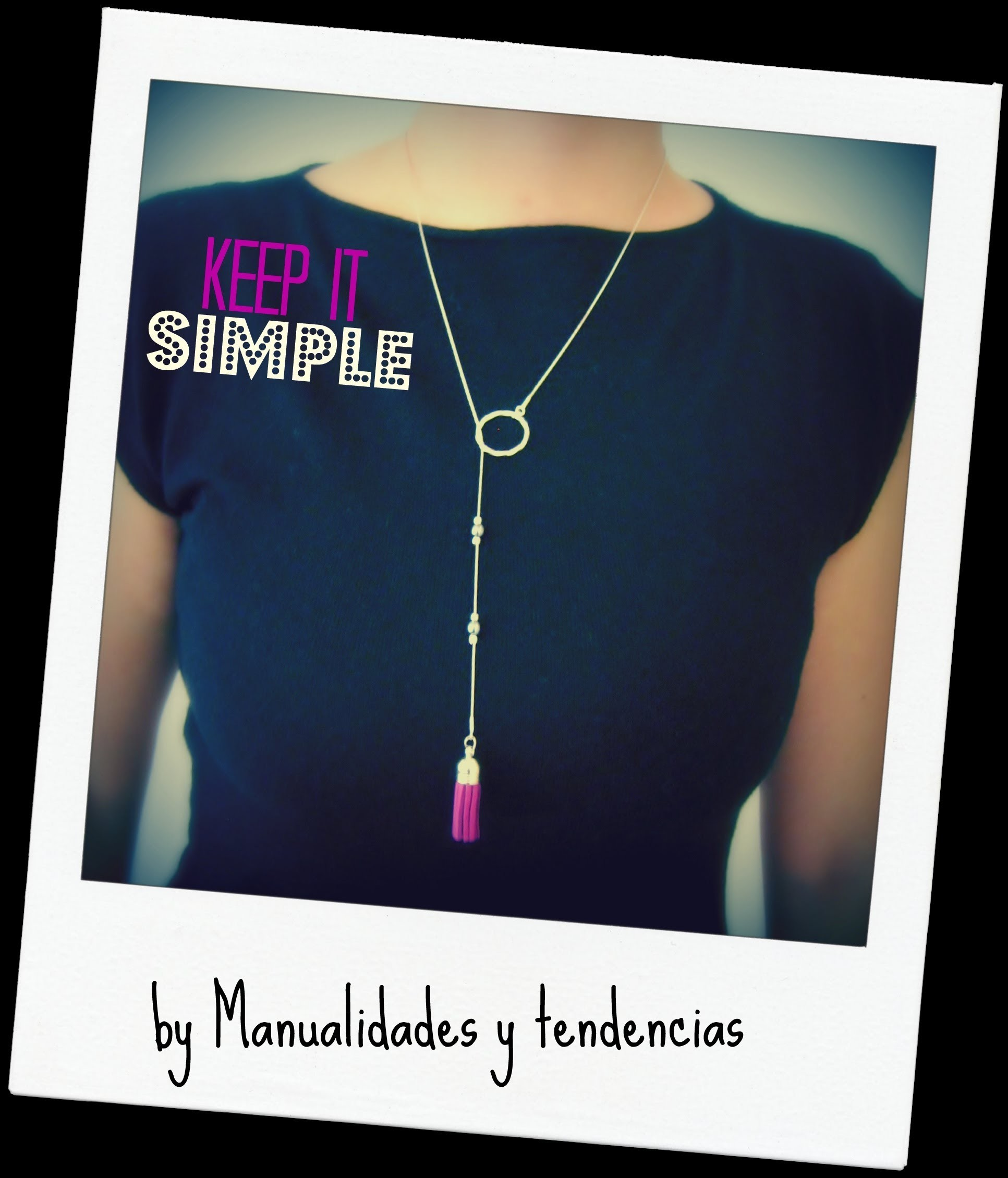 DIY Collar con borla. Tassel necklace.