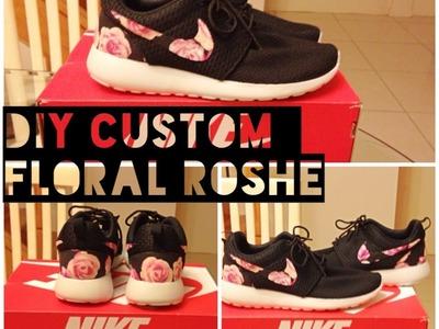 DIY Floral Custom Nike Roshe style look