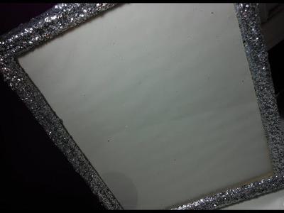 DIY: Glitter Frame ♡ Theeasydiy #RoomDecor