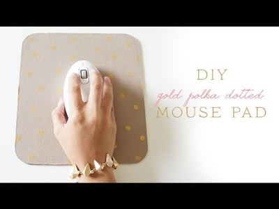 DIY Gold Polka Dotted Mouse Pad