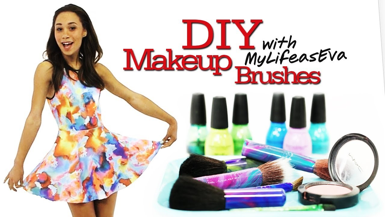 DIY Personalized Makeup Brushes with MyLifeAsEva #17Daily