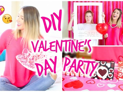 DIY Valentine's Day Party | Photo Booth, Treats & Gift Bags!