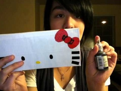 Duct Tape Wallet - Hello Kitty