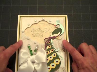 Fancy Card Friday-Peacock-Art Nouveau Cricut Cartridge
