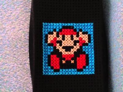 Game Over Mario iPhone 4 cross stitch case
