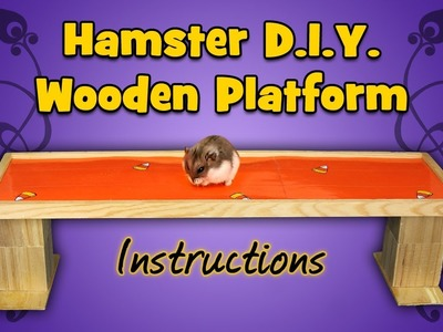 Hamster D.I.Y. Wooden Platform (Instructions)