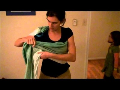 How to create a No Sew Ring Sling with a short woven wrap and a pair of sling rings