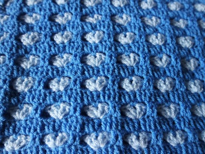 How to crochet hearts blanket free tutorial pattern by marifu6a