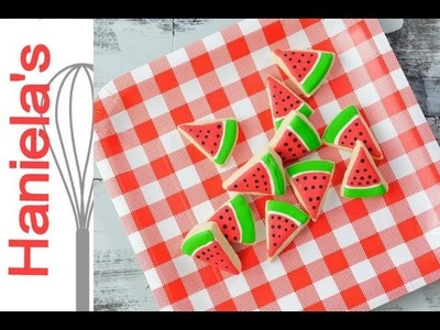 HOW TO DECORATE MINI WATERMELON COOKIES
