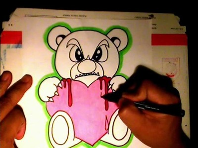 How to draw a Mean Teddy Bear - Music from - (Cyborg Unknown) - (Transedental Mix)