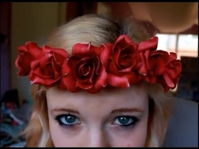 How to Make a Lana Del Rey Inspired Flower Crown Headband