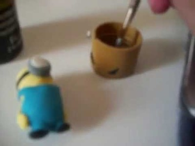 How to make a polymer clay minion