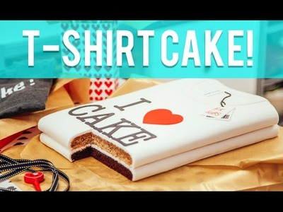 How To Make A T-SHIRT out of CAKE! Stacked chocolate and banana cakes covered in fondant!