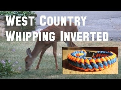 How to make a West Country Whipping Inverted Paracord Bracelet Tutorial (Paracord 101)