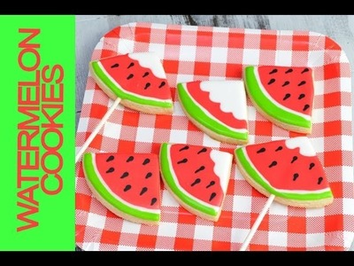 HOW TO MAKE WATERMELON COOKIES, ROYAL ICING