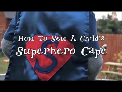 How To Sew A Superhero Cape