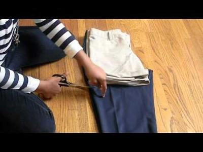 How to turn trouser's into shorts!