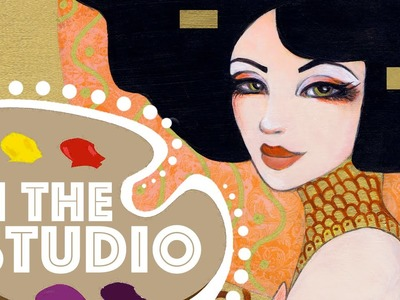 In the Studio #2: Klimt Inspired Speed Paint by Leilani Joy