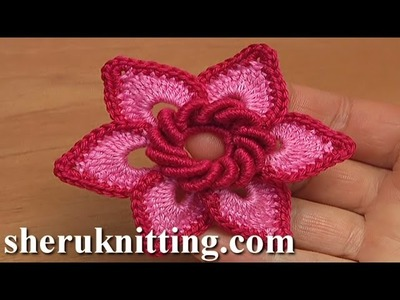 Irish Crochet Double Layered Flower Tutorial 19