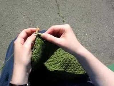 Knitting p1, k1, p1 in same stitch